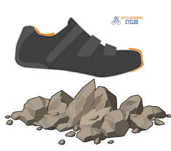 ankle support and toe protection from rocks