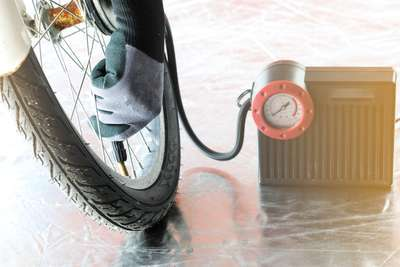 air compressor - bike tire inflating